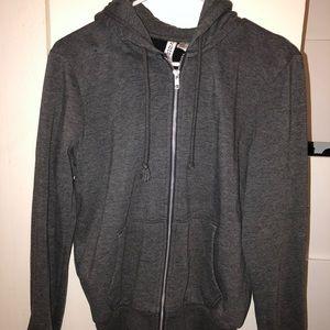 H&M Dark Grey Zip Up Hoodie